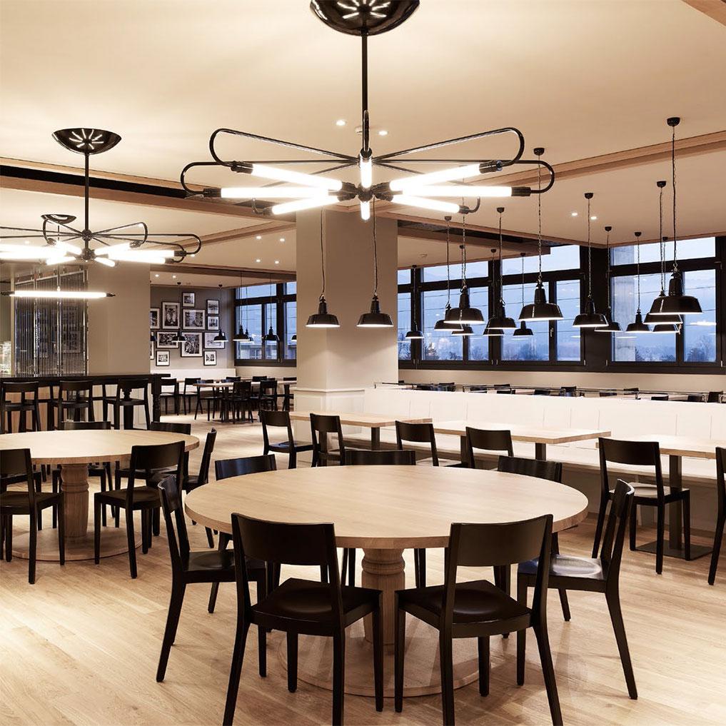 Neonröhren Hängeleuchte Bauhaus Stil Im Achtflammige Casa Lumi H9WD2IYE
