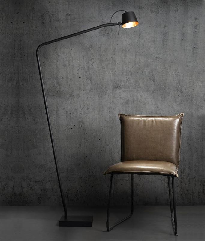 Stehlampe Lesen lese-stehlampe matt-schwarz und kupfer bliss - casa lumi
