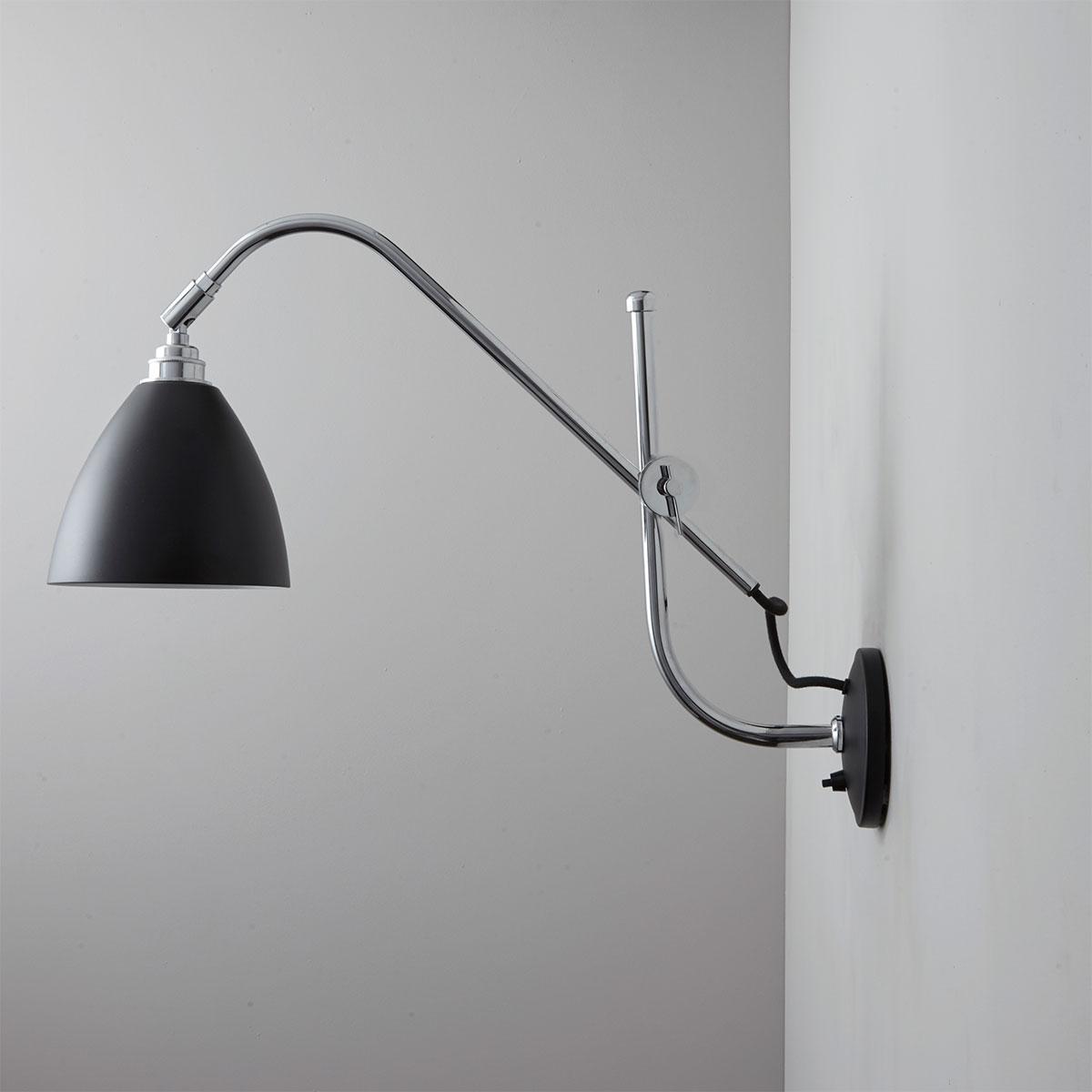 Wandleuchte mit Gelenk Auslegerarm im Bauhaus Stil TASK   Casa Lumi
