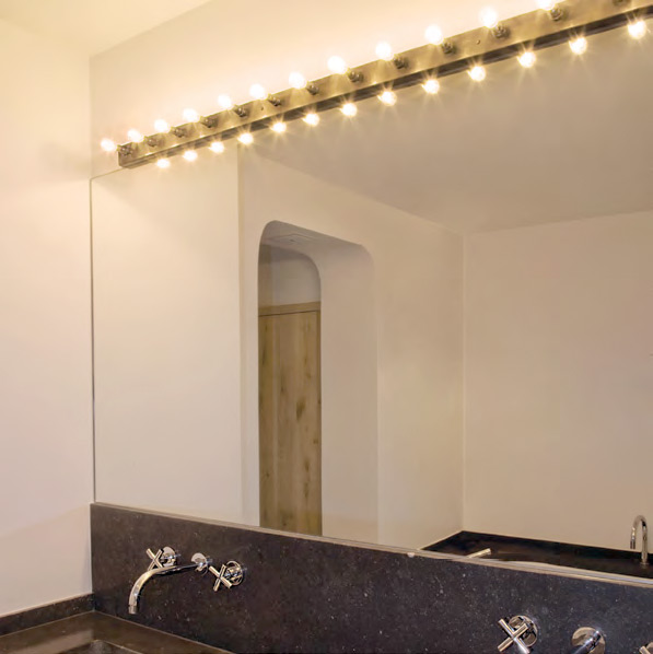 Extrem BARON Theaterspiegel Leuchten-Leiste aus Messing - Casa Lumi ZF94