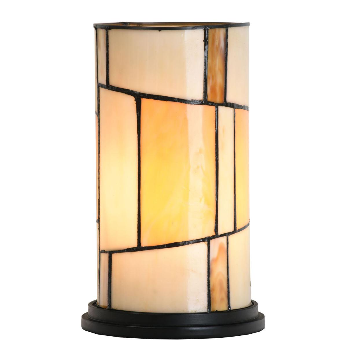 85b2b2c5871fc0 Zylindrische Tiffany-Tischleuchte im Art Déco-Stil - Casa Lumi