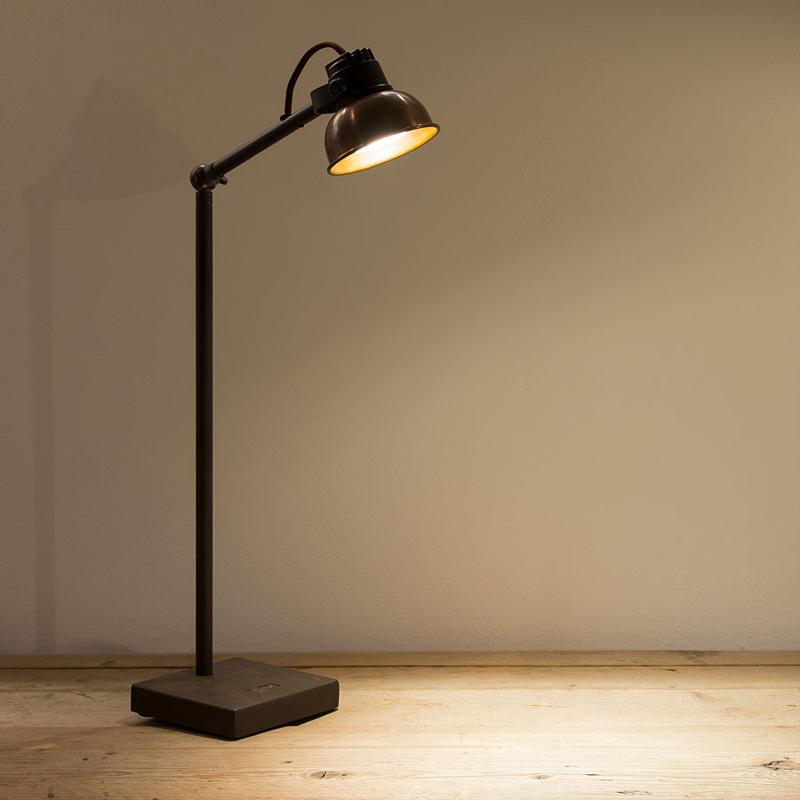 industrie charme rustikale lese stehleuchte gusseisen und. Black Bedroom Furniture Sets. Home Design Ideas