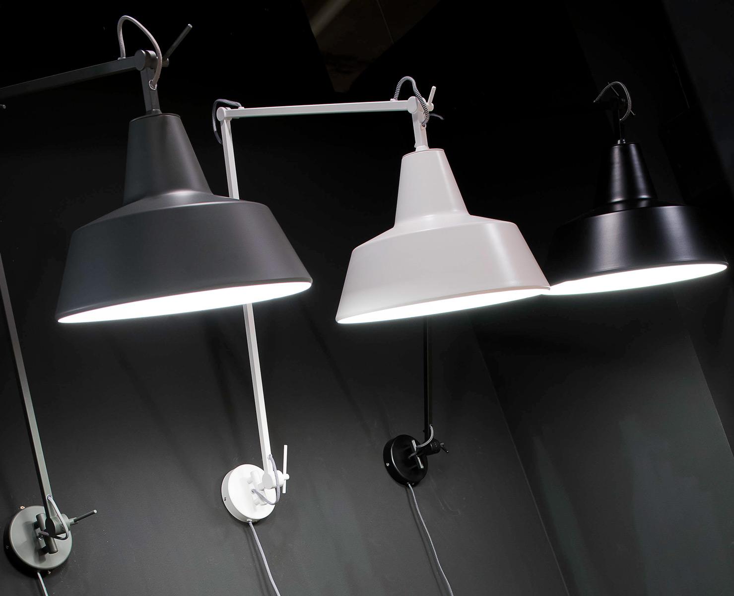 Plafoniere Industrial Style : Große gelenk wandleuchte im industrial look drei farben casa lumi