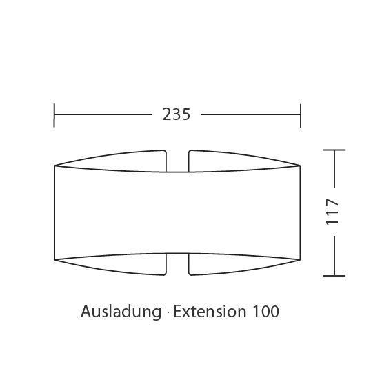 blendfrei gebogene design wandleuchte voil mit halogen oder led casa lumi. Black Bedroom Furniture Sets. Home Design Ideas
