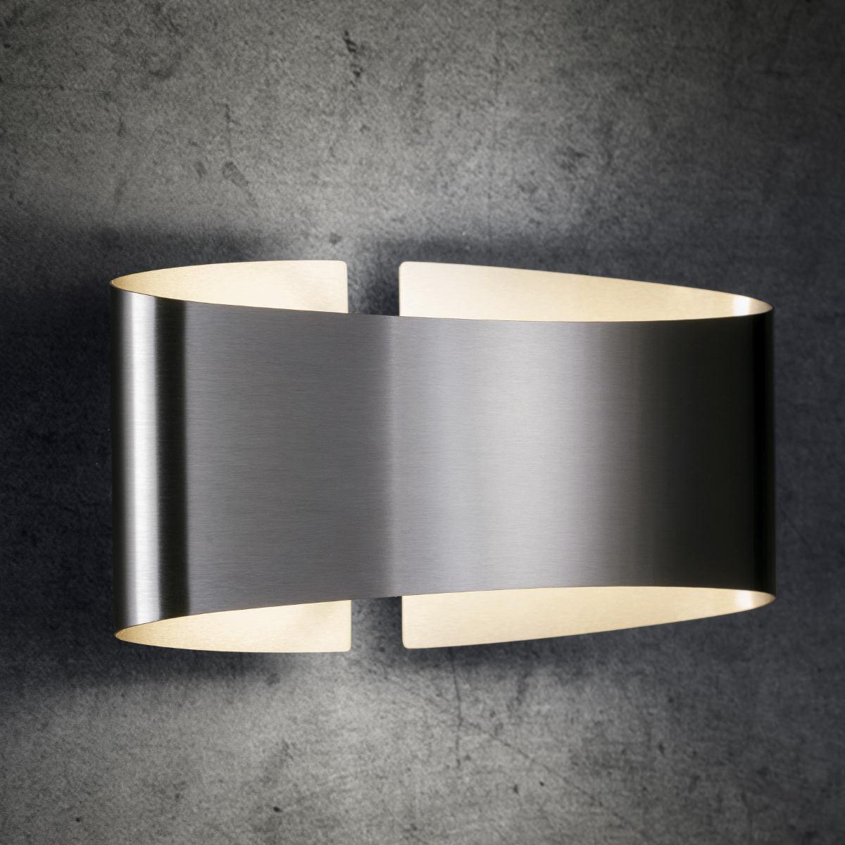 Blendfreie, gebogene Design Wandleuchte VOILÀ LED   Casa Lumi