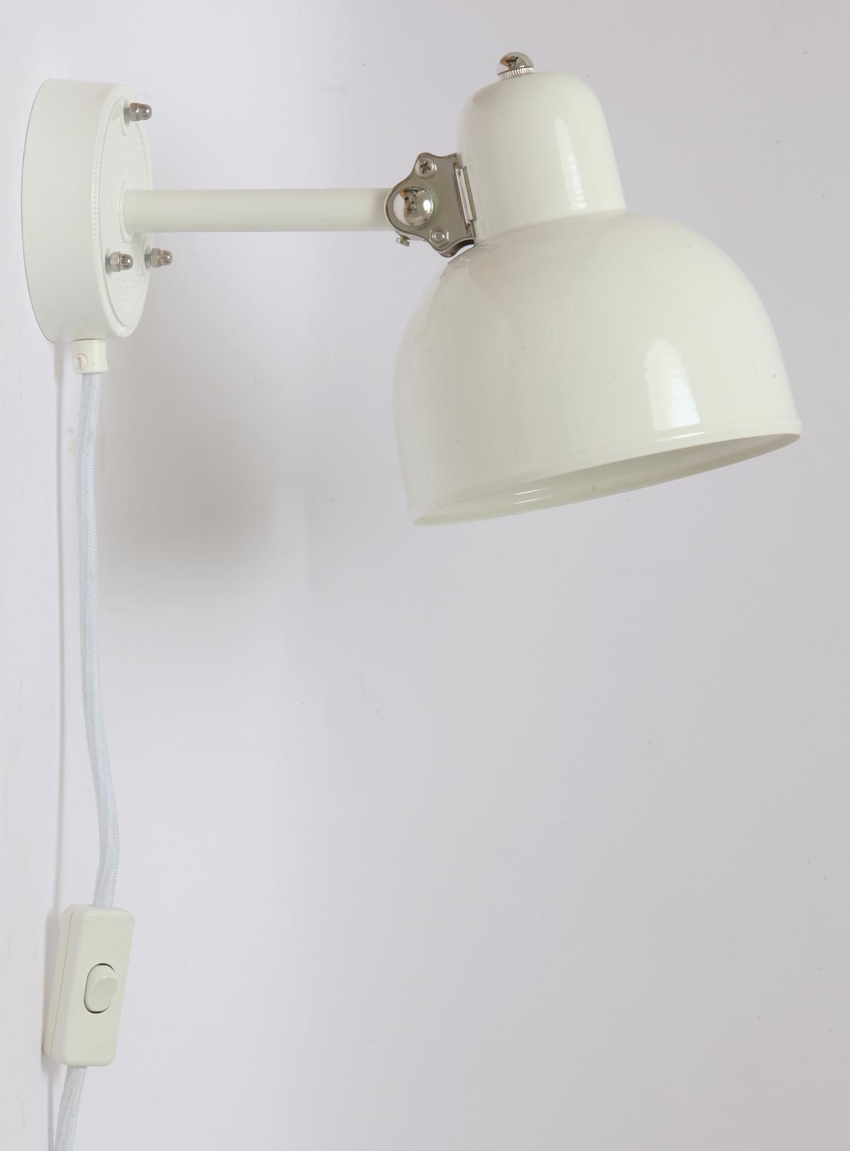 Weiße Küchen-Wandleuchte mit Gelenk DUISBURG - Casa Lumi