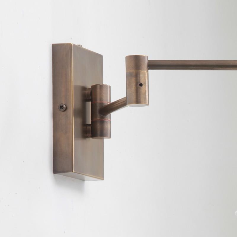 schwenkbare wandleuchte mit kegelschirm casa lumi. Black Bedroom Furniture Sets. Home Design Ideas