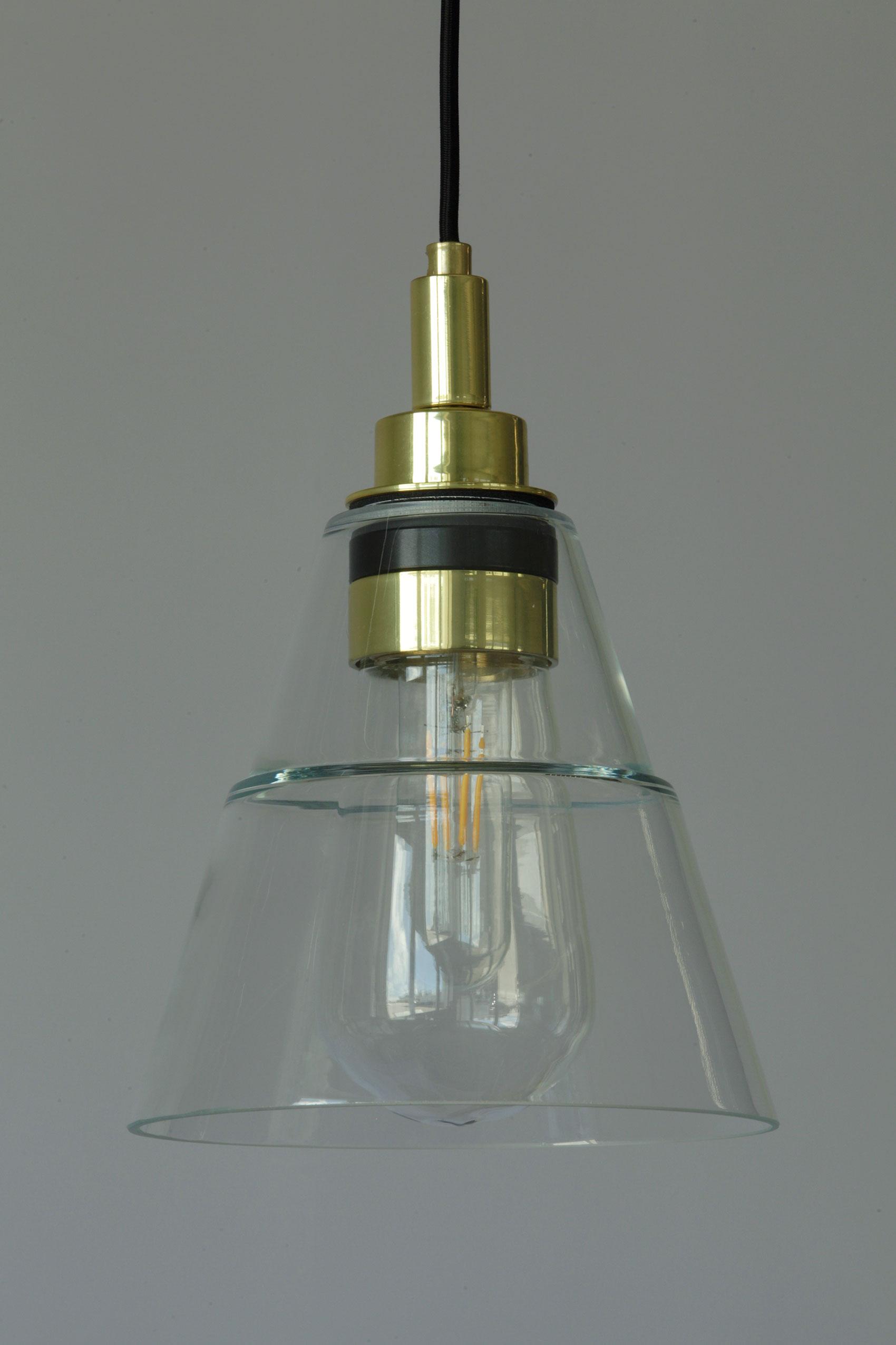 Kleine Glas-Hängeleuchte auch für Badezimmer, IP20 - Casa Lumi