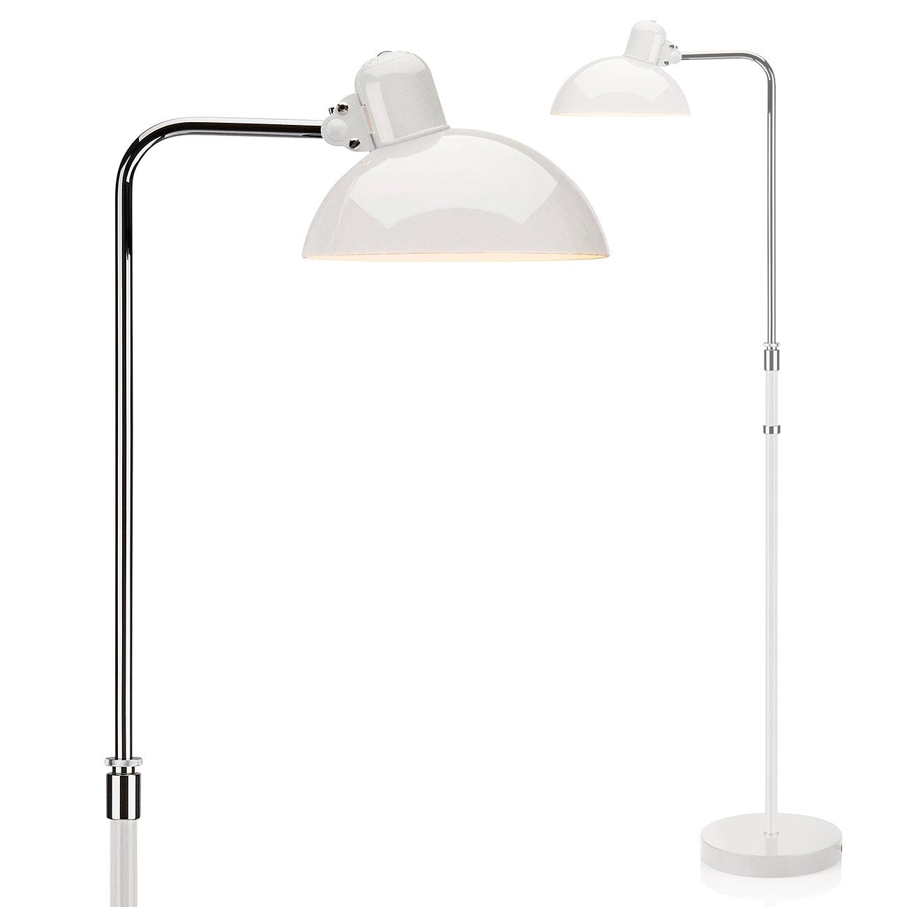 Weisse Bauhaus Stehlampe 6580 F Von Christian Dell Ideale Leselampe