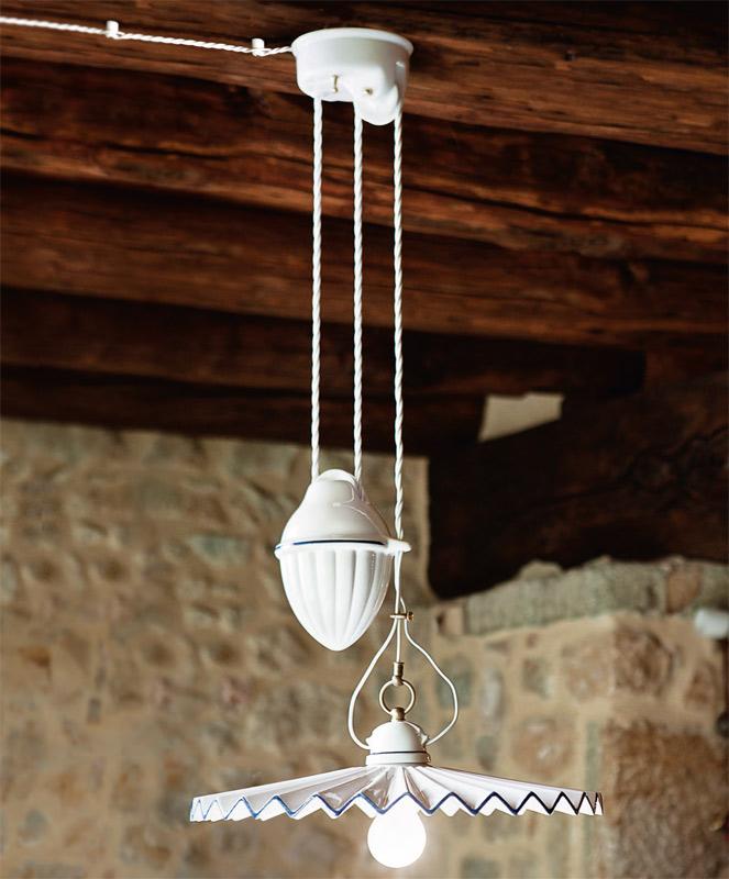 piega keramik pendelleuchte mit plissiertem schirm casa lumi. Black Bedroom Furniture Sets. Home Design Ideas