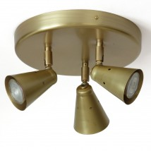 Small triple ceiling spot light from France ROTISSE