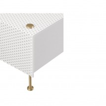 Mid Century table light G61 by P. Guariche, perforated metal sheet von Pierre Guariche, Image 8