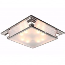 Large square Art Déco ceiling lamp in French style, 70 cm