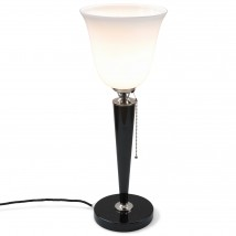 Mazda Art Déco table lamp with piano lacquer