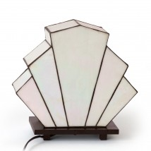 Art Déco table light with Tiffany glass shade