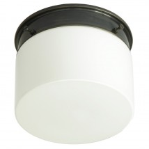 Bauhaus ceiling tube light with opal glass