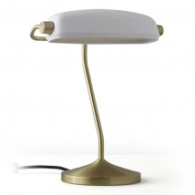 Intricate Banker's Desk Light with china shade