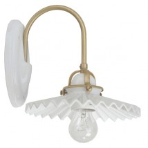 Small wall lamp in brass and ceramic PIEGA