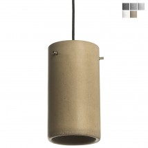 Cylindrical concrete pendulum lamp in different colors