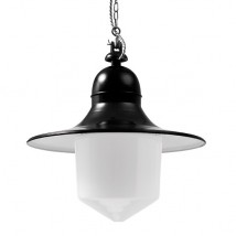 SIEGEN Industrial suspended luminaire with pointed cylinder