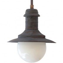 ULM Rod pendant lamp made of patinated copper