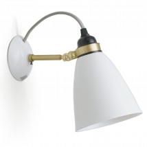 Bone China Wall Light HECTOR 30 Brass Anniversary Edition