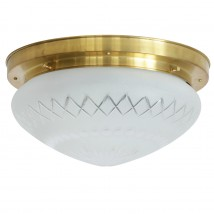 Ceiling light with star and diamond cut available in four sizes
