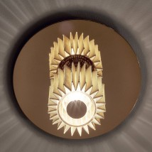Ceiling lamp IN THE SUN with reflector disc silver/gold, Ø 19/27/38 cm