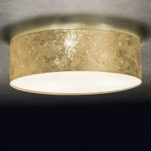 Round ceiling fixture VITA 3 with fine fabric shade (Ø 60)