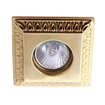 Decorative recessed spotlight made of brass