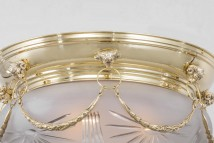 Neo-classical ceiling light ERLAU von Art Nouveau Lamps, Image 11: Detail in Messing poliert
