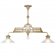 Art Nouveau brass bar light