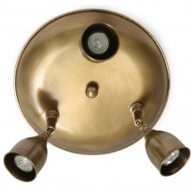 Ceiling light with three spotlights made of antique brass von Atelier MB, Image 6: 12 Messing patiniert