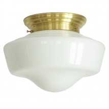 Elegant schoolhouse ceiling light with domed opal glass Ø 34 cm