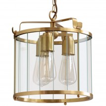 AUGSBURG III Three-flame pendant lamp made of brass
