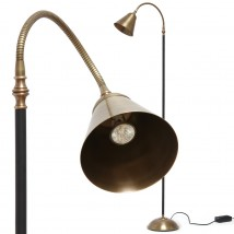 French brass reading light with flexible arm