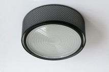 Mid Century style ceiling fixture G13 with Fresnel lens Ø 17–35 cm von Pierre Guariche, Image 5: Großes Modell mit