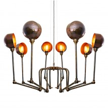 OCTOPUS Pendant lamp with eight jointed arms