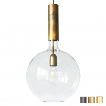 Exclusive design ball light made of glass and brass ROSALIA