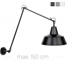 Large industrial hinged lamp in three colors