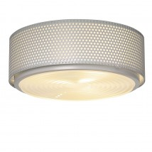 Mid Century style ceiling fixture G13 with Fresnel lens Ø 17–35 cm von Pierre Guariche, Image 15: Großes Modell in grau Ø 35 cm