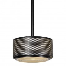 Guariche Mid Century pendant light G13A with perforated shade and lens