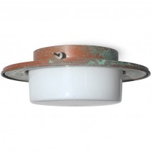 CAPAEONGA Ceiling lamp in patinated copper Ø 33 cm