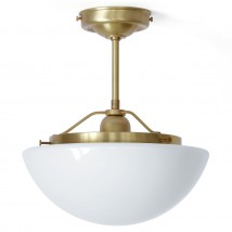 Suspended ceiling light with glass dome
