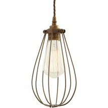 Industrial pendant light with protective cage WORKS