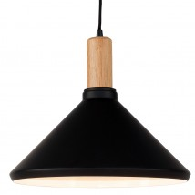 Cone pendant light with ash wood detail