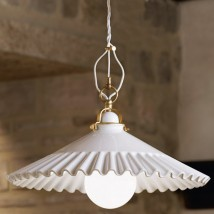 DUSE 30 cm pendant light with ceramic shade