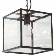 VITRINE Small glass box hanging light