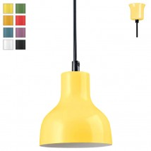 MADLEN Small painted steel pendant lamp