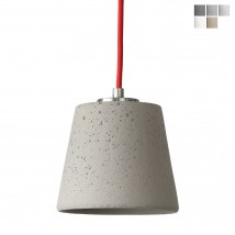 Hanging light with small concrete beaker shade CAL14